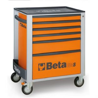 Beta C24S/6-O Mobile Roller Cab With 6 Drawers (Orange)